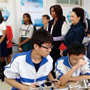 US first lady visits a Beijing school